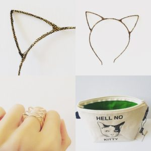 "#MoreThanACone Avant Garden Party is tomorrow! We'll have our gold cat ears, cat rings, and ""Hell No Kitty"" pouches and totes, and more! Check out @morethanacone for tickets! #cats #catstuff #meow #catears #catring #cattote #kitty #catlover #animalrescue #avantgardenparty"