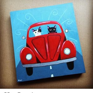 Thank you kilkennycatart Marcy and Penelope Kitten are road trippinghellip