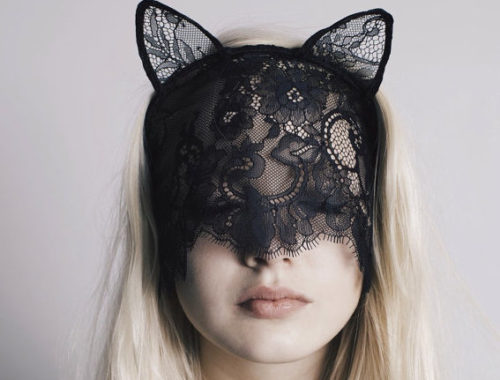 blacklacecatmask