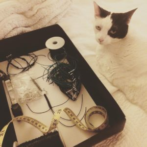 Marcy is supervising the bracelet making for CatCon Shes beinghellip