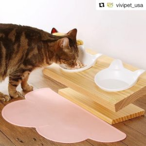 vivipetusa Wooden feeder and millennial pink cat mat are onhellip