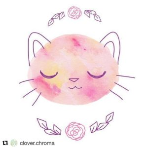 Awww love this pink sleepy kitty by cloverchroma  hellip