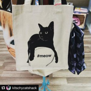 Our meow Book Bag is hanging out at kitschycatshack inhellip