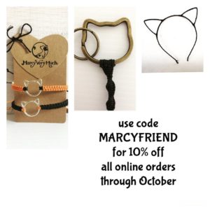 Marcy merch discount code good through October Happy Cat Month!hellip