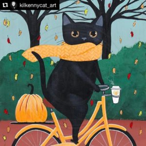 Attention cat art lovers! kilkennycatart has moved her shop fromhellip